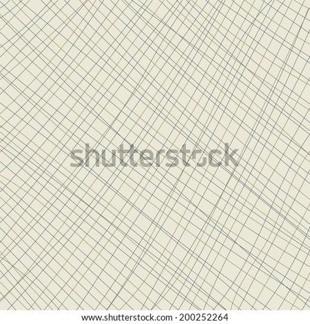 Crisscross lines pattern background illustration - stock vector