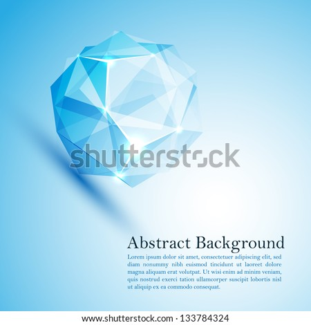 Cristal ice. Vector illustration for your business presentation - stock vector