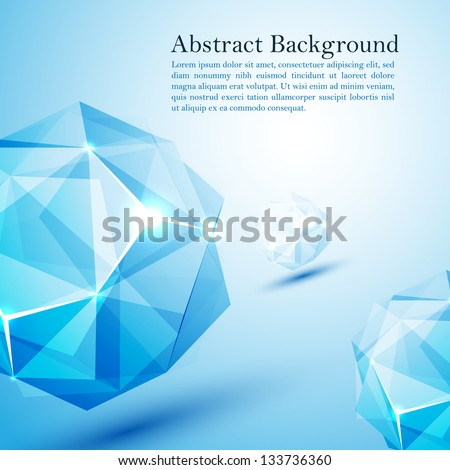 Cristal prism. Vector illustration for your business presentation - stock vector
