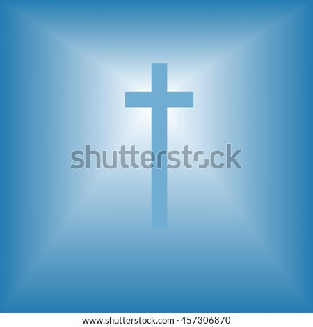 cristian cross over bright light abstract religion illustration