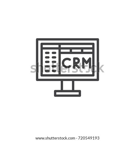 Crm Line Icon Outline Vector Sign Stock Vector 720549193 Shutterstock
