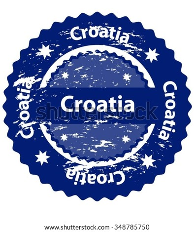 Croatia Country Grunge Stamp - stock vector
