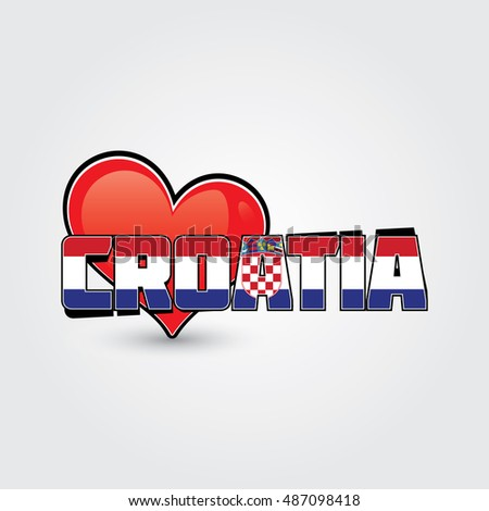 Croatia flag slogan