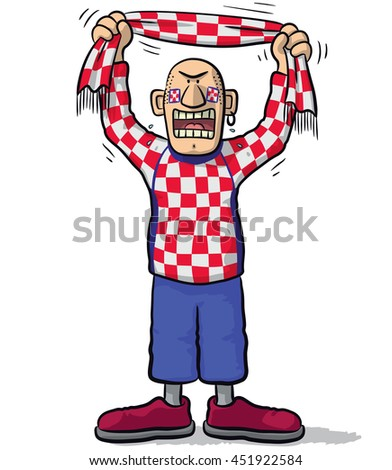 Croatia soccer supporter