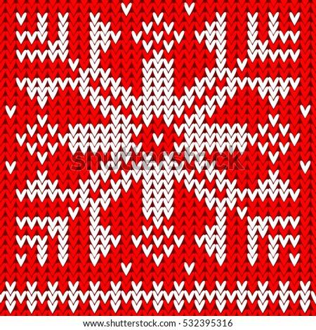 Crochet Snowflake Knitting Pattern Vector Art Stock Vector 532395316