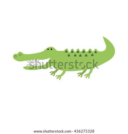 Crocodile - stock vector