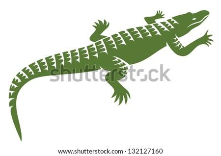 crocodile design (alligator symbol, crocodile icon) - stock vector
