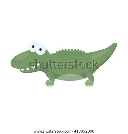 Crocodile icon.   - stock vector