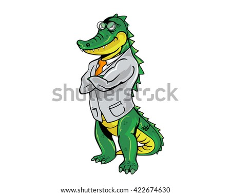 Crocodile Occupational Character - Doctor