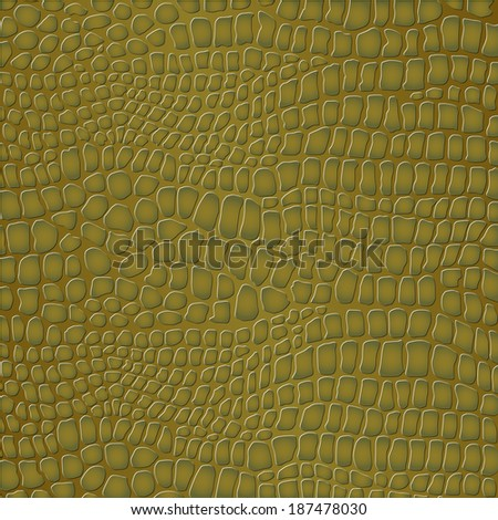 Crocodile skin - stock vector