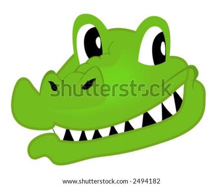 Crocodile - Vector - stock vector