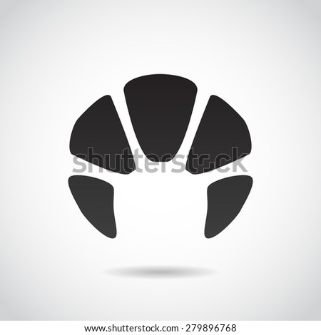 Croissant icon isolated on white background. Vector art.