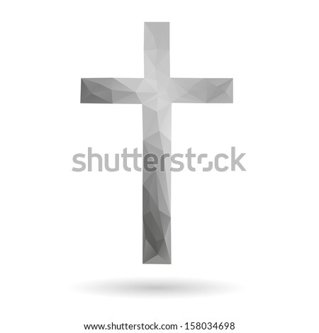 Cross abstract isolated on a white backgrounds - stock vector