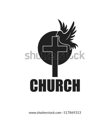 Cross dove church logo stock vector 517869313 shutterstock cross and dove for church logo altavistaventures Choice Image