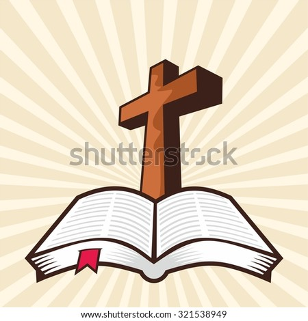 cross open bible stock vector royalty free 321538949 shutterstock