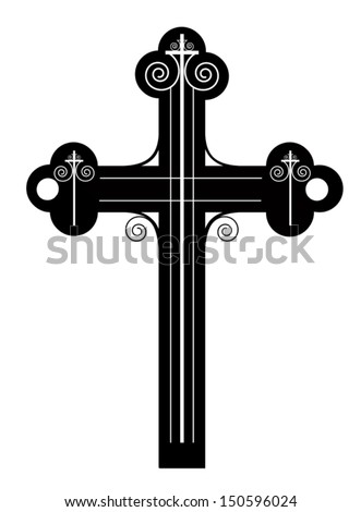 cross black  made in 2d software