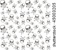 cross bones and skull pattern in vector format very easy to edit, individual objects - stock vector