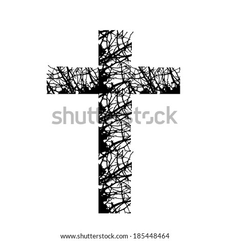 Cross branch. Vector - stock vector