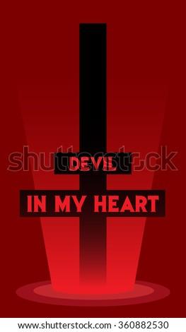 Cross devil - stock vector