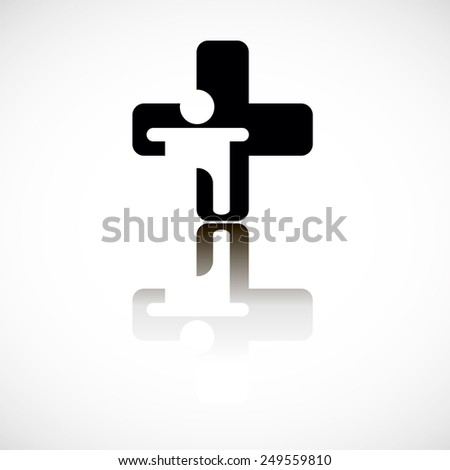 cross emergency medical icon sign health symbol - stock vector