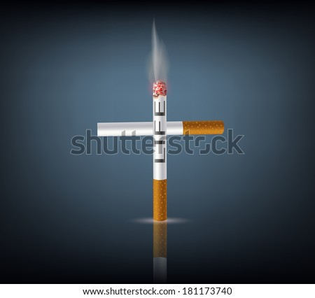 cross from cigarettes - stock vector