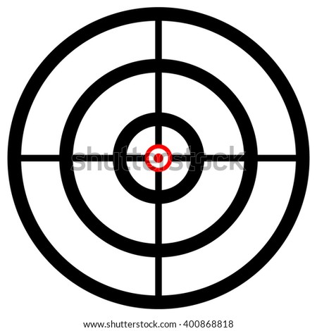 Cross hair, target mark, reticle. Graphics for hunting, accuracy, firearm, aiming, targeting concepts.