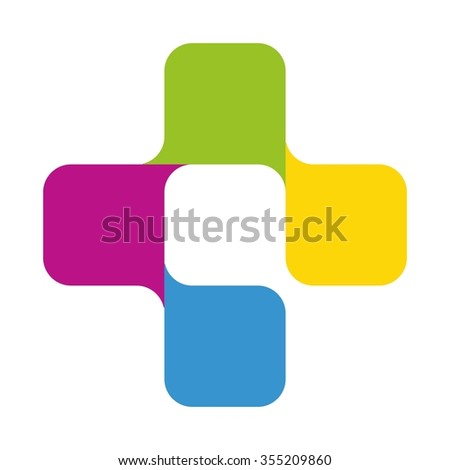 cross health logo vector.