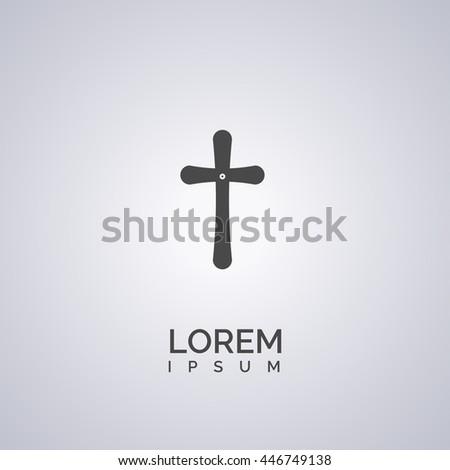 cross icon. cross logo - stock vector