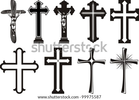 cross icon - grave decoration