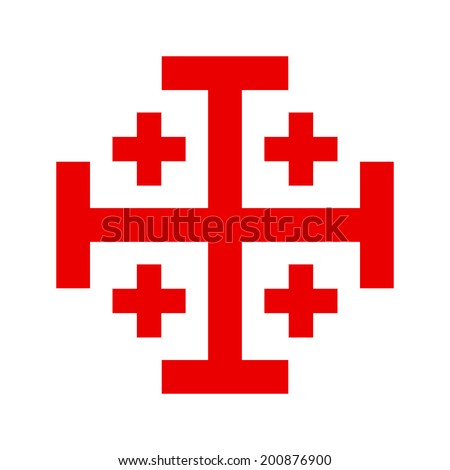 Cross of Knightly Order of the Holy Sepulchre of Jerusalem - stock vector