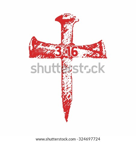 Cross of nails - stock vector