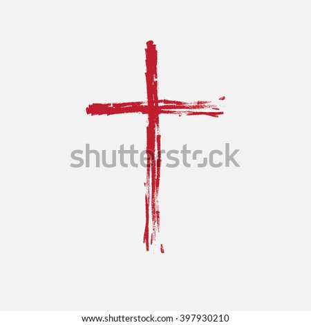 Cross painted brushes - stock vector