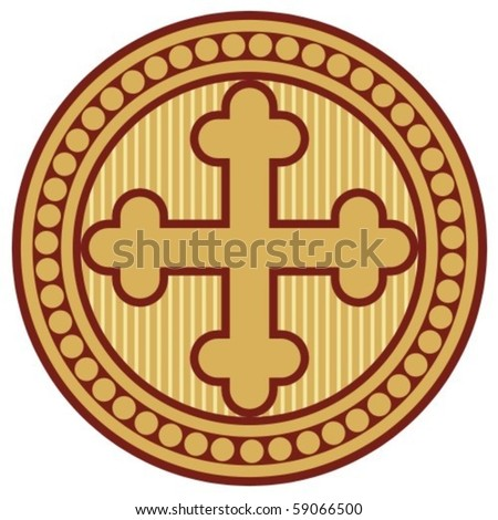 cross seal (sign, symbol) - stock vector