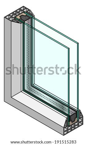 Double glazing stock images royalty free images vectors for Double glazed glass