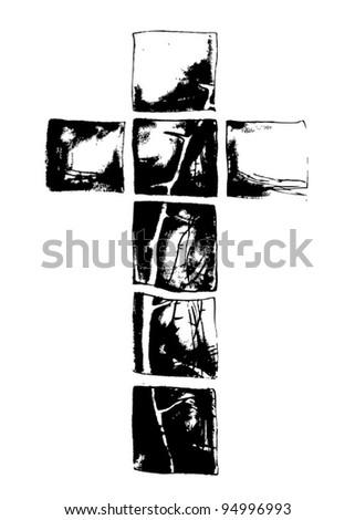 Cross symbol illustration - stock vector