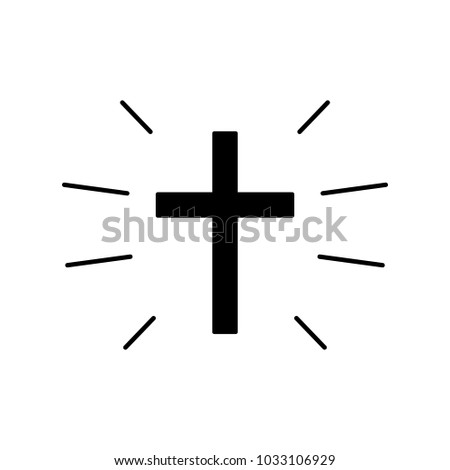Cross Symbol Christianity Church Vector Black Stock Vector