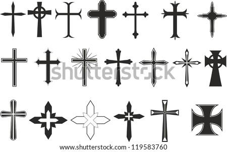 Cross symbols - stock vector