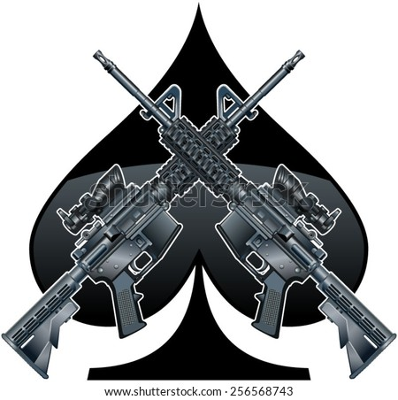 ar15 clipart 20 free Cliparts   Download images on ...  Crossed Guns M4