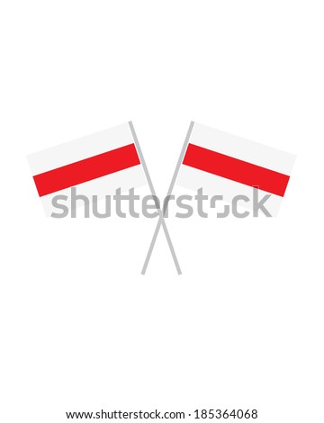 Crossed Belarus Flags - Vector - stock vector