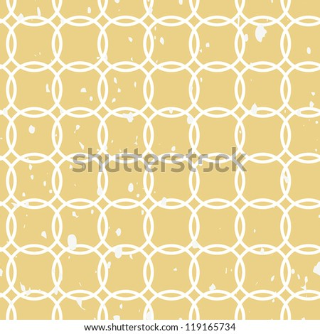 Crossed circles grunge vintage seamless background pattern - stock vector