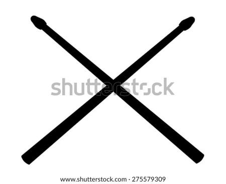 Crossed Drum Sticks Stock Vector 275579309 - Shutterstock