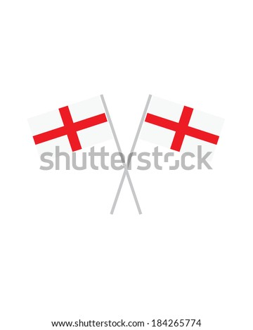 Crossed England Flags - Vector - stock vector