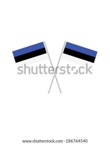Crossed Estonia Flags - Vector - stock vector