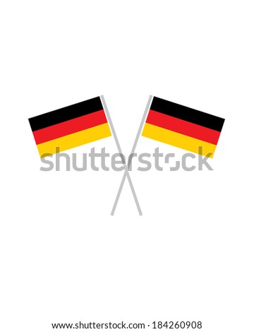 Crossed German Flags - Vector - stock vector