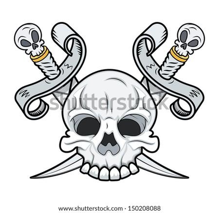 Crossed Skull Vector - stock vector