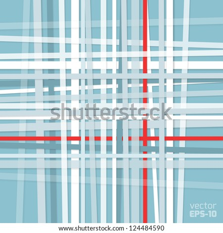 Crossed stripes, abstract background - stock vector