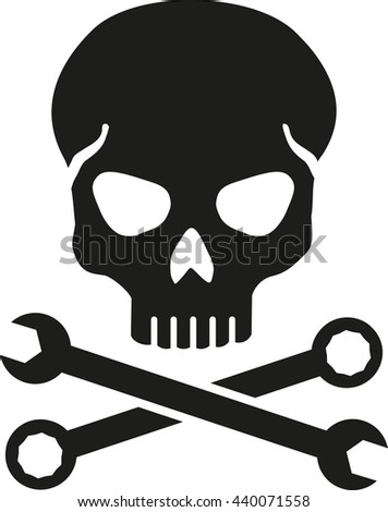 Crossed Wrench with skull