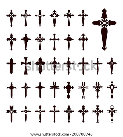 crosses vector - stock vector