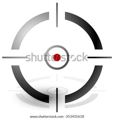 Crosshair, cross-hair, target mark vector icon. precision, accuracy concepts.  - stock vector