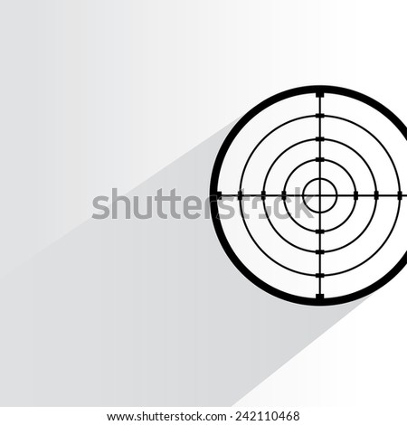 crosshair, dart target on white background, flat and shadow theme - stock vector